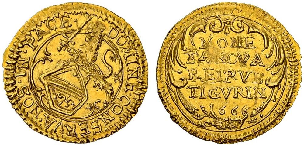 CH 1/4 Dukat - Vierteldukat 1666