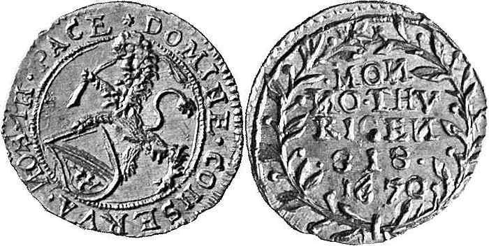 CH 1/4 Dukat - Vierteldukat 1670