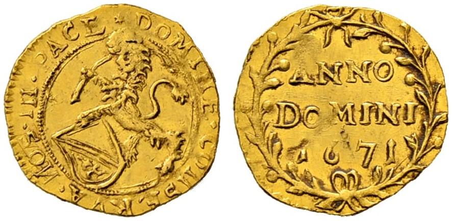 CH 1/4 Dukat - Vierteldukat 1671