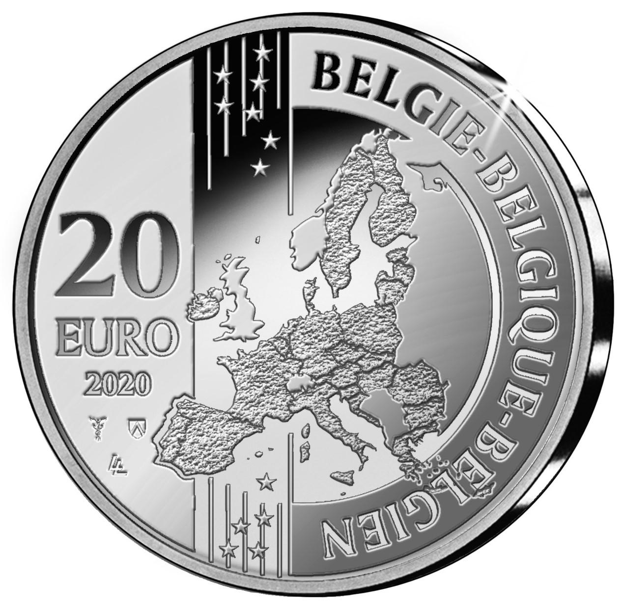 BE 20 Euro 2020 Staff of Mercury