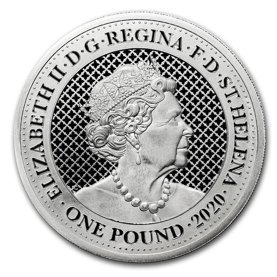 SH 1 Pound 2020 EIC Mintmark