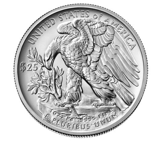 US 25 Dollars 2020 W