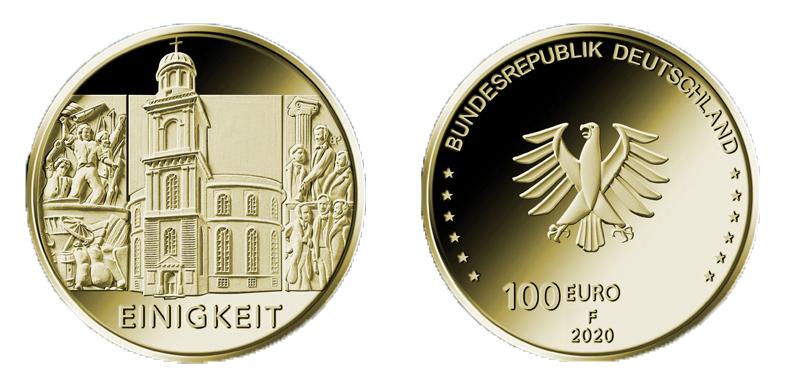 DE 100 Euro 2020 F