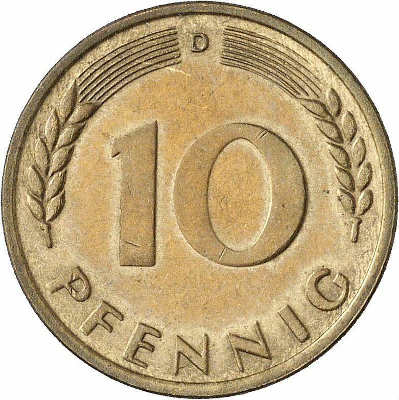 DE 10 Pfennig 1949 D