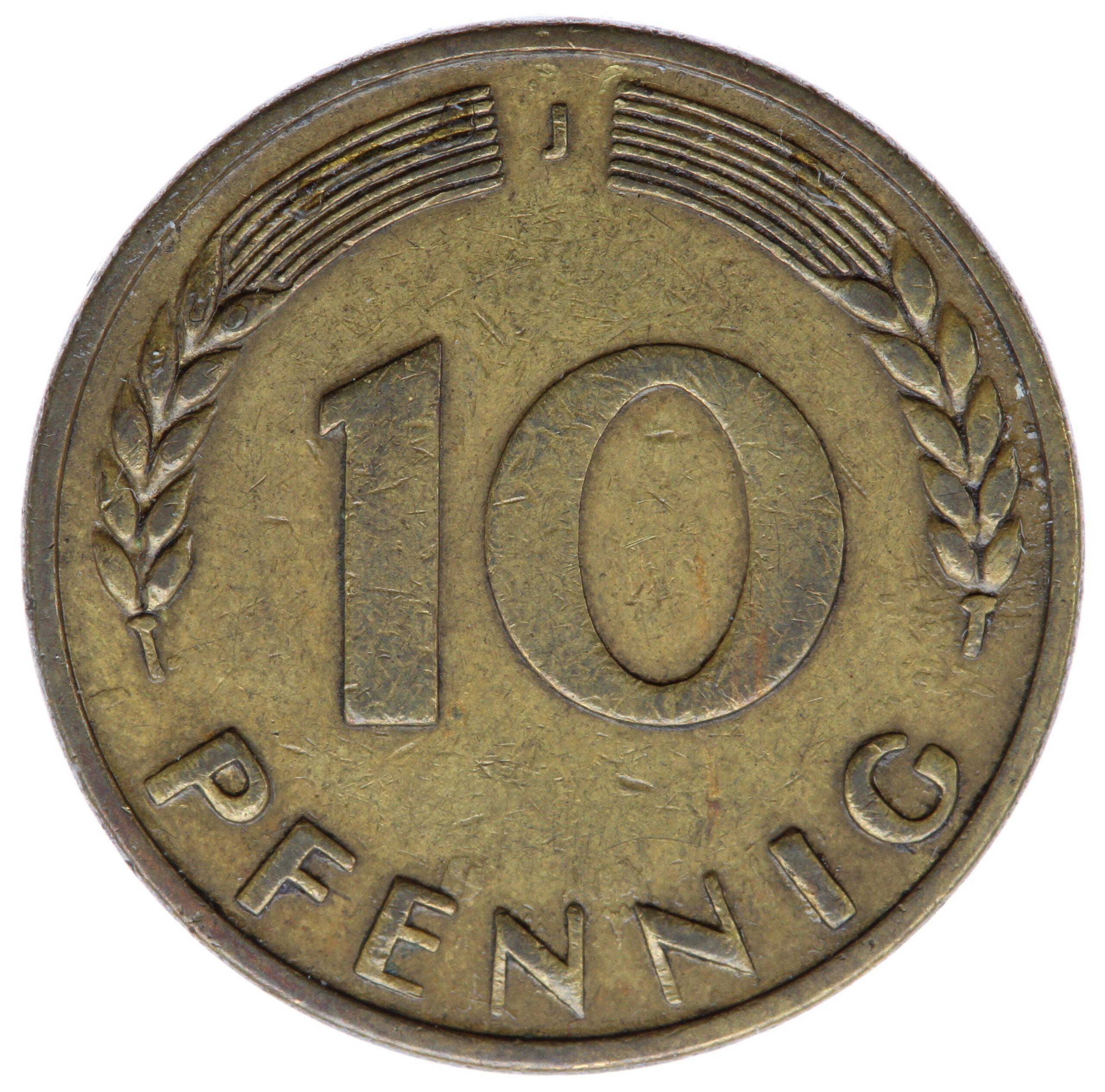 DE 10 Pfennig 1949 J
