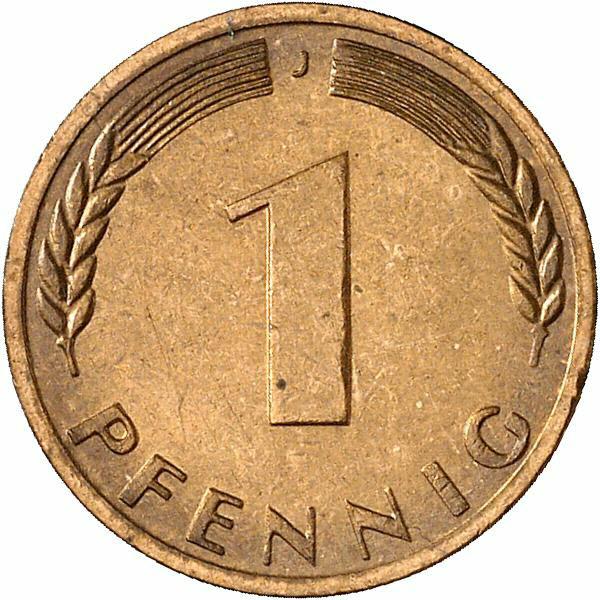 DE 1 Pfennig 1967 J