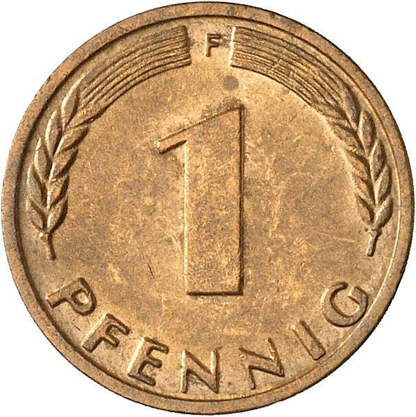DE 1 Pfennig 1968 F