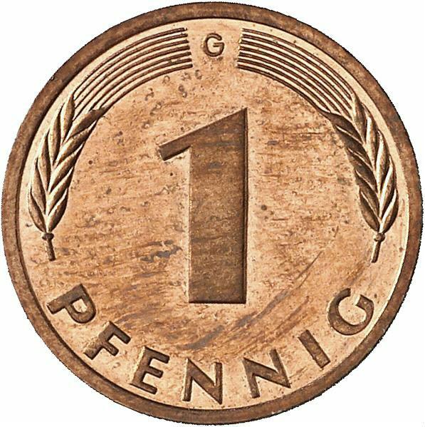 DE 1 Pfennig 1996 G