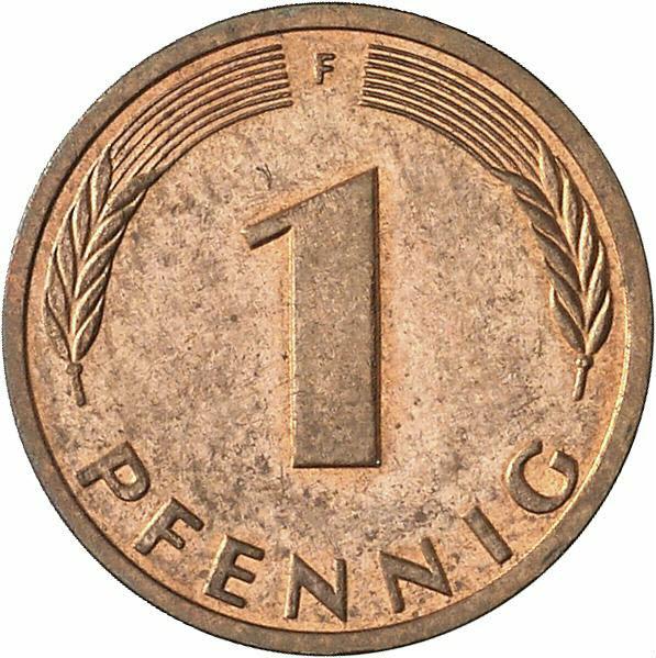 DE 1 Pfennig 1990 J