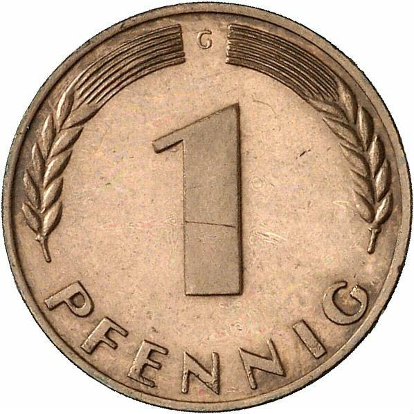 DE 1 Pfennig 1967 G