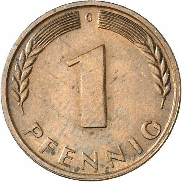DE 1 Pfennig 1966 G