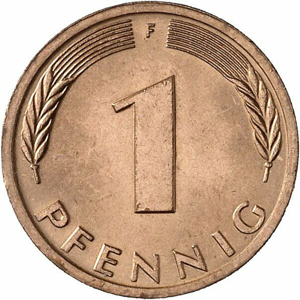 DE 1 Pfennig 1980 F