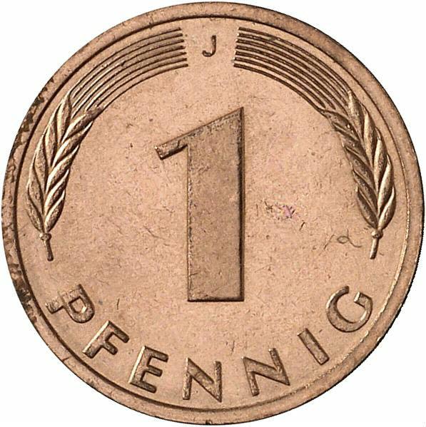 DE 1 Pfennig 1980 J