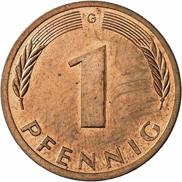 DE 1 Pfennig 1991 G