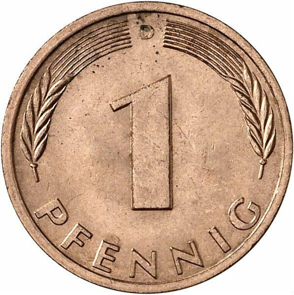 DE 1 Pfennig 1982 D