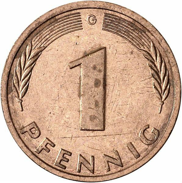 DE 1 Pfennig 1982 G