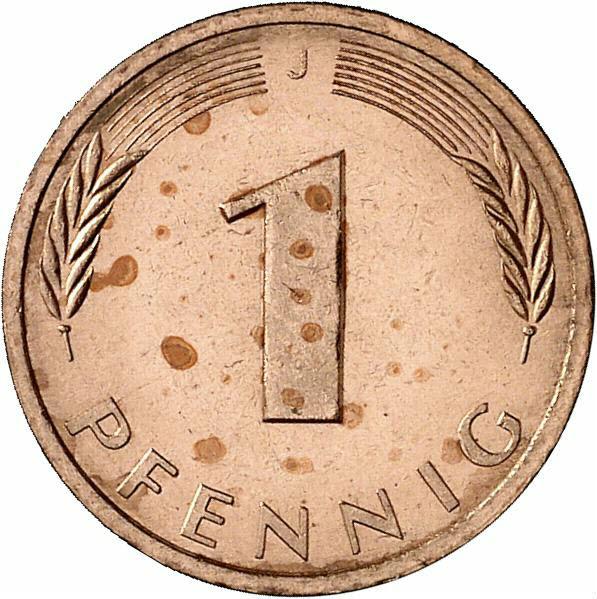 DE 1 Pfennig 1982 J