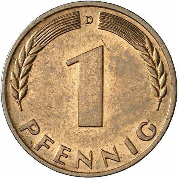 DE 1 Pfennig 1967 D