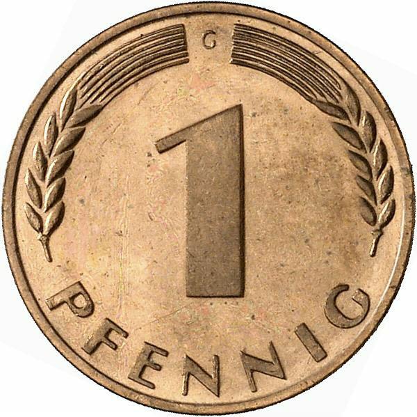DE 1 Pfennig 1969 G