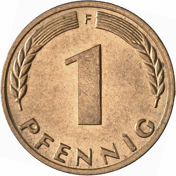 DE 1 Pfennig 1969 F
