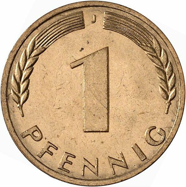 DE 1 Pfennig 1970 J