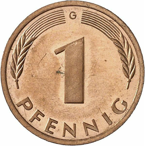 DE 1 Pfennig 1986 G