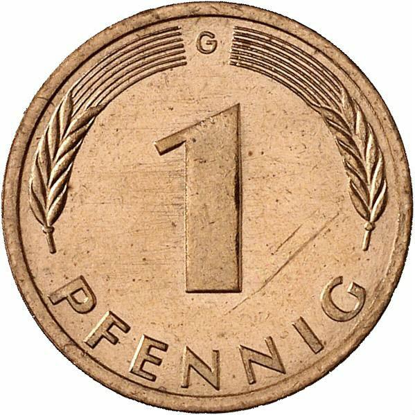 DE 1 Pfennig 1987 G