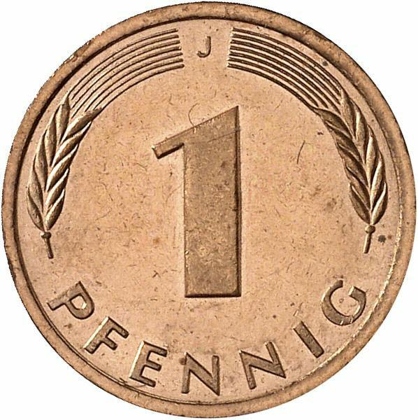 DE 1 Pfennig 1987 J