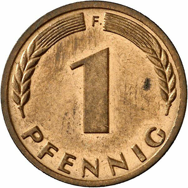 DE 1 Pfennig 1967 F