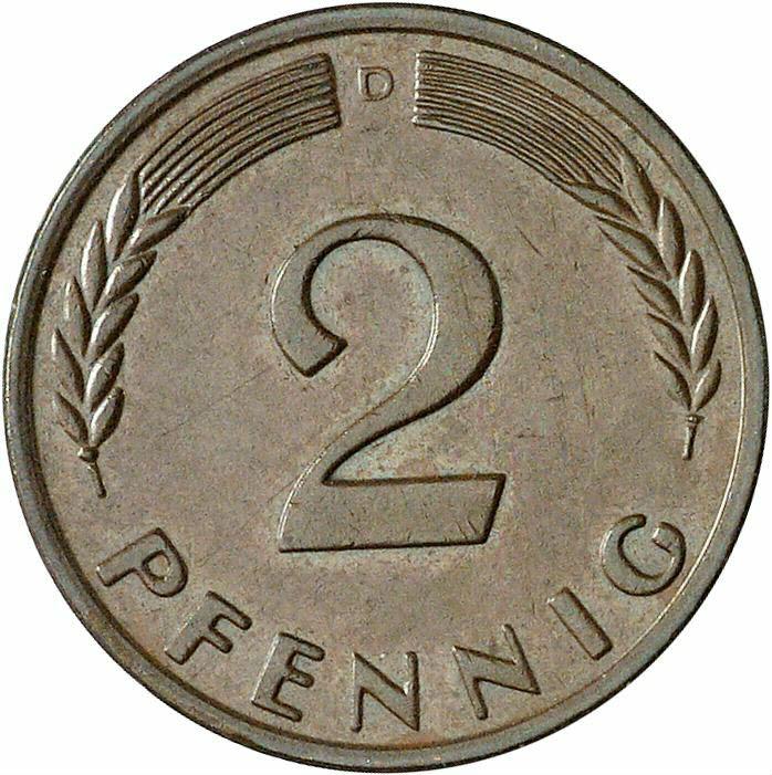 DE 2 Pfennig 1959 D