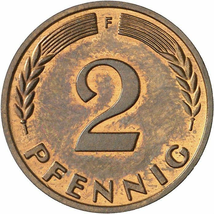 DE 2 Pfennig 1958 F