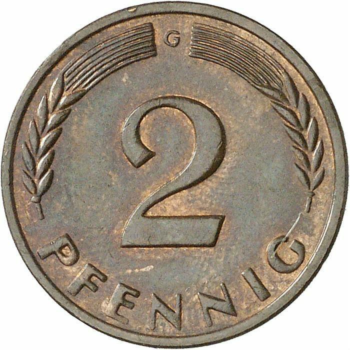 DE 2 Pfennig 1958 G