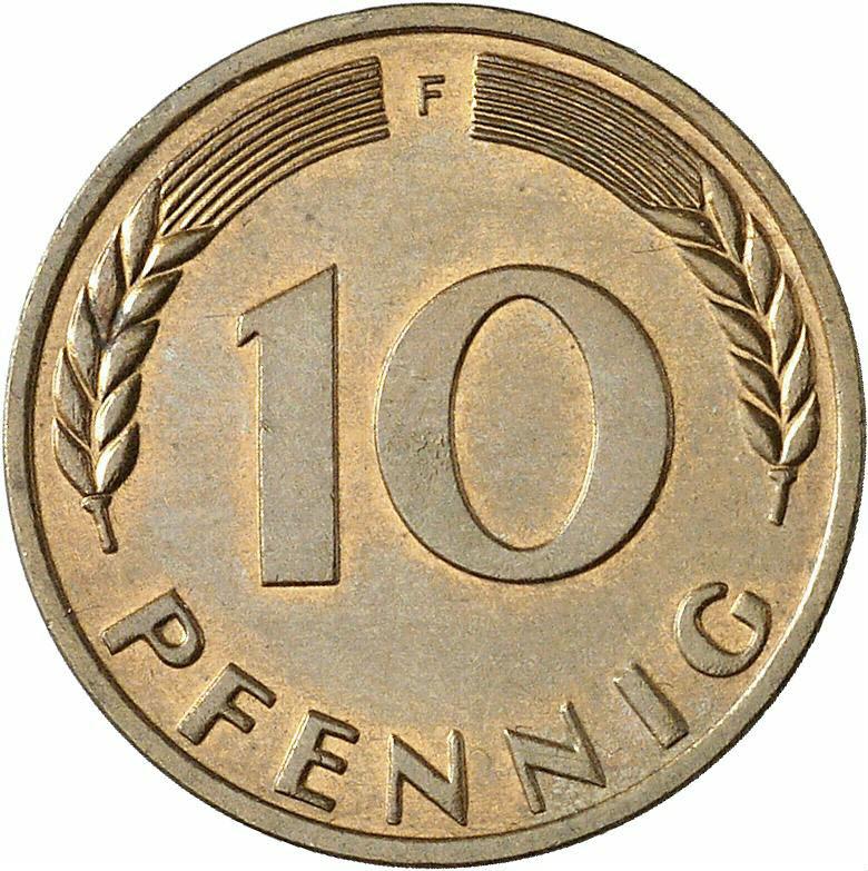 DE 10 Pfennig 1966 F