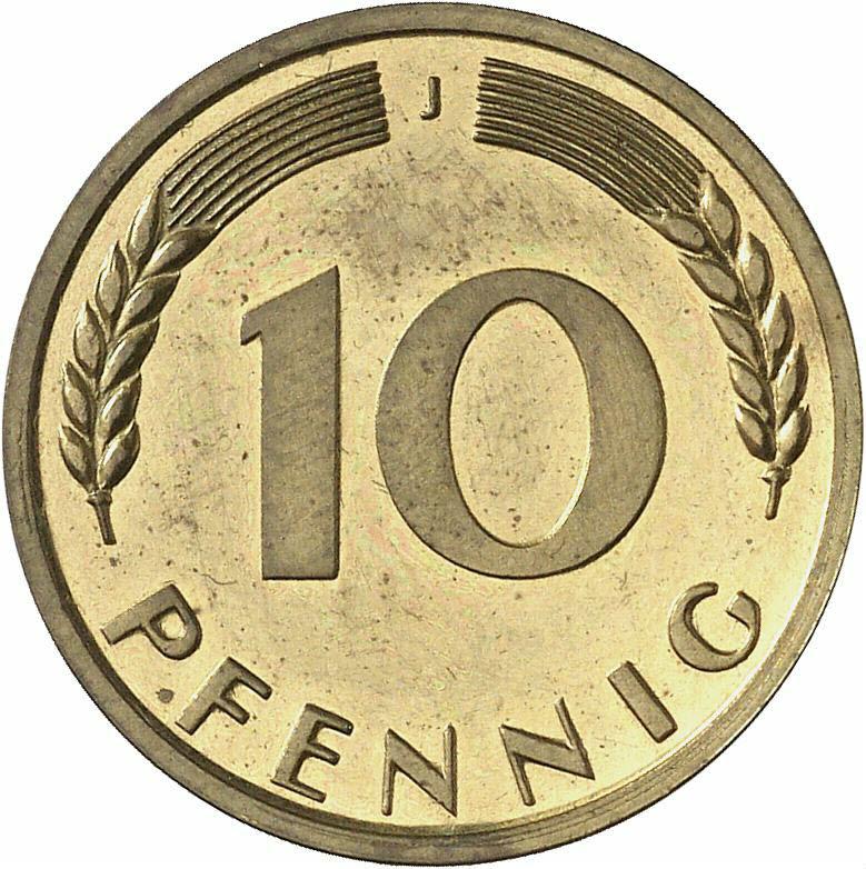 DE 10 Pfennig 1950 J