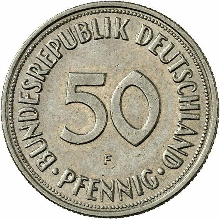 DE 50  Pfennig 1966 F