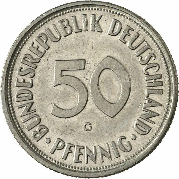 DE 50  Pfennig 1966 G