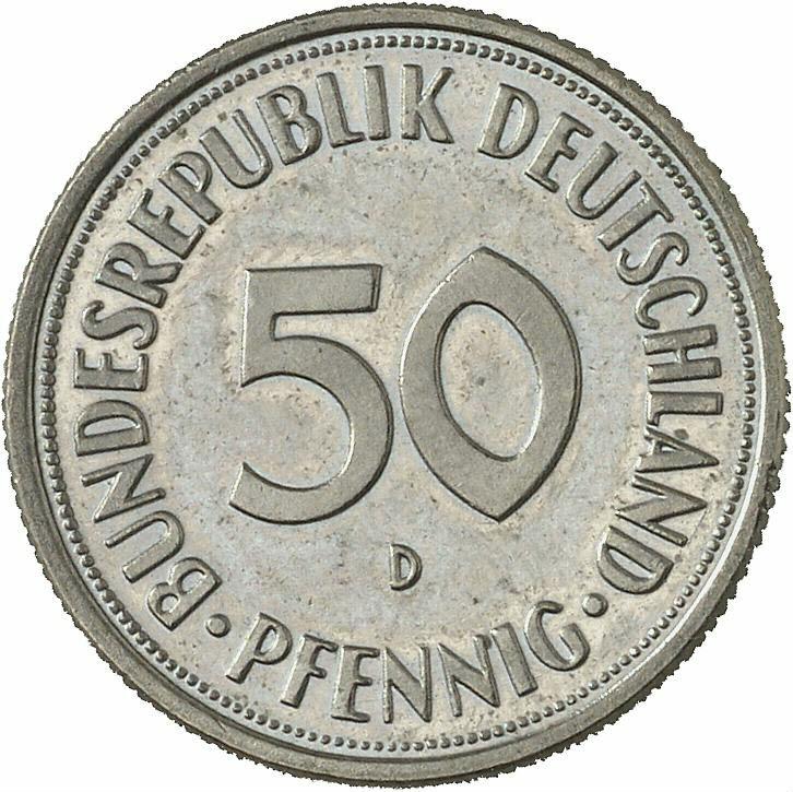 DE 50  Pfennig 1950 D