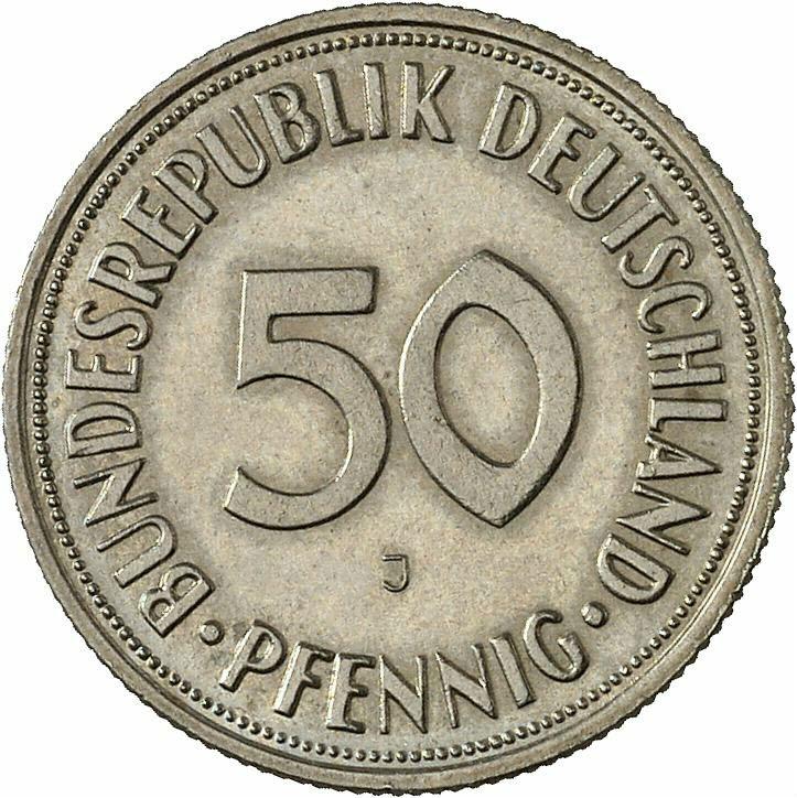 DE 50  Pfennig 1950 J