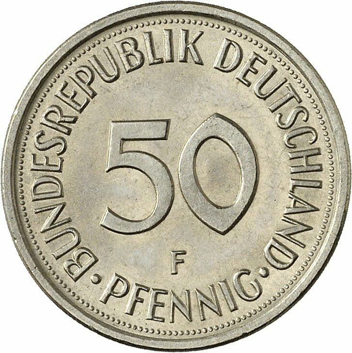 DE 50  Pfennig 2001 F