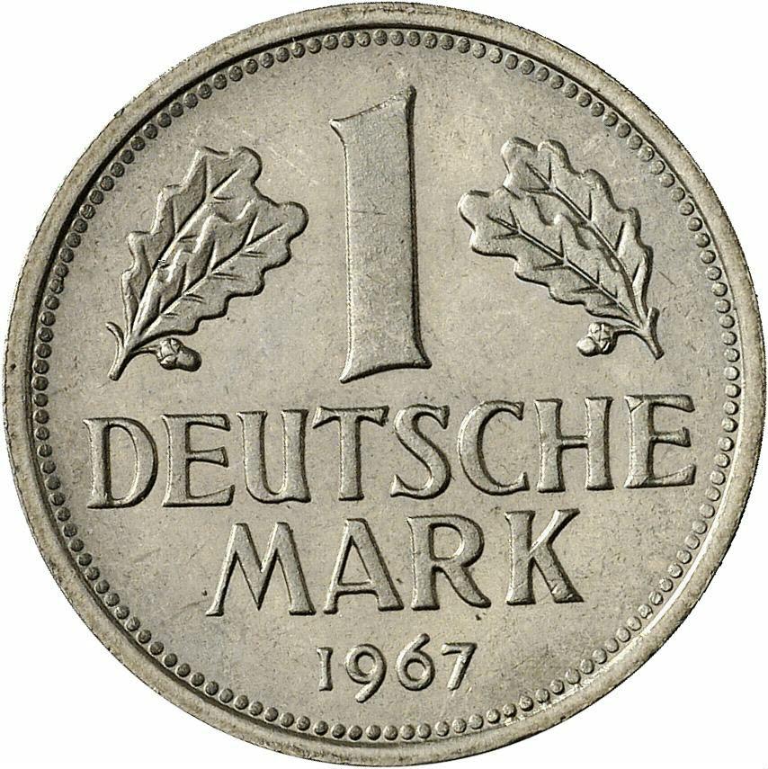 DE 1 Deutsche Mark 1967 J