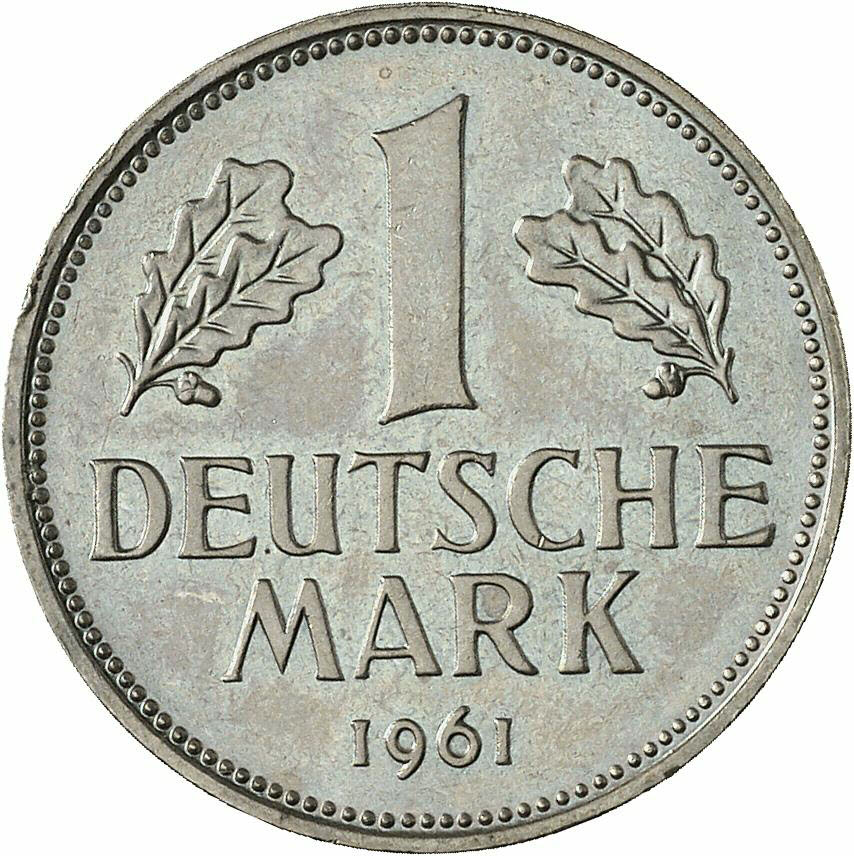DE 1 Deutsche Mark 1961 J