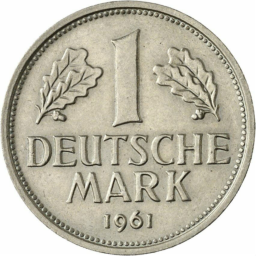 DE 1 Deutsche Mark 1961 F
