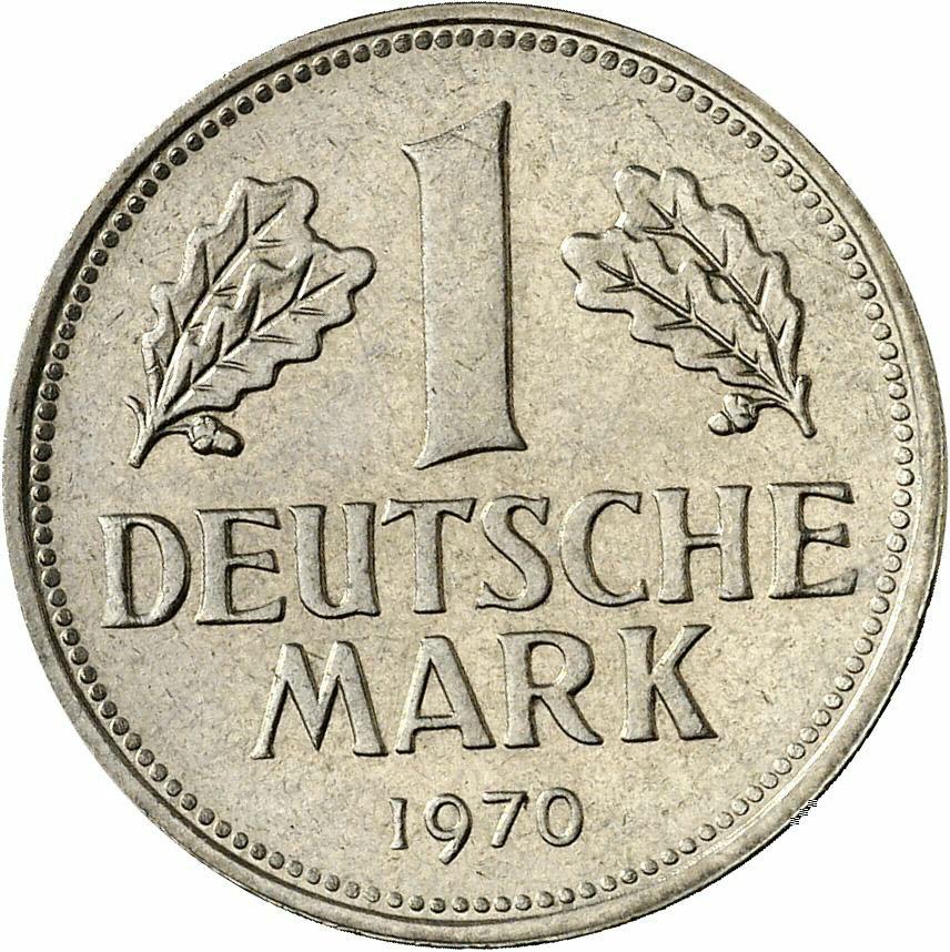 DE 1 Deutsche Mark 1970 J