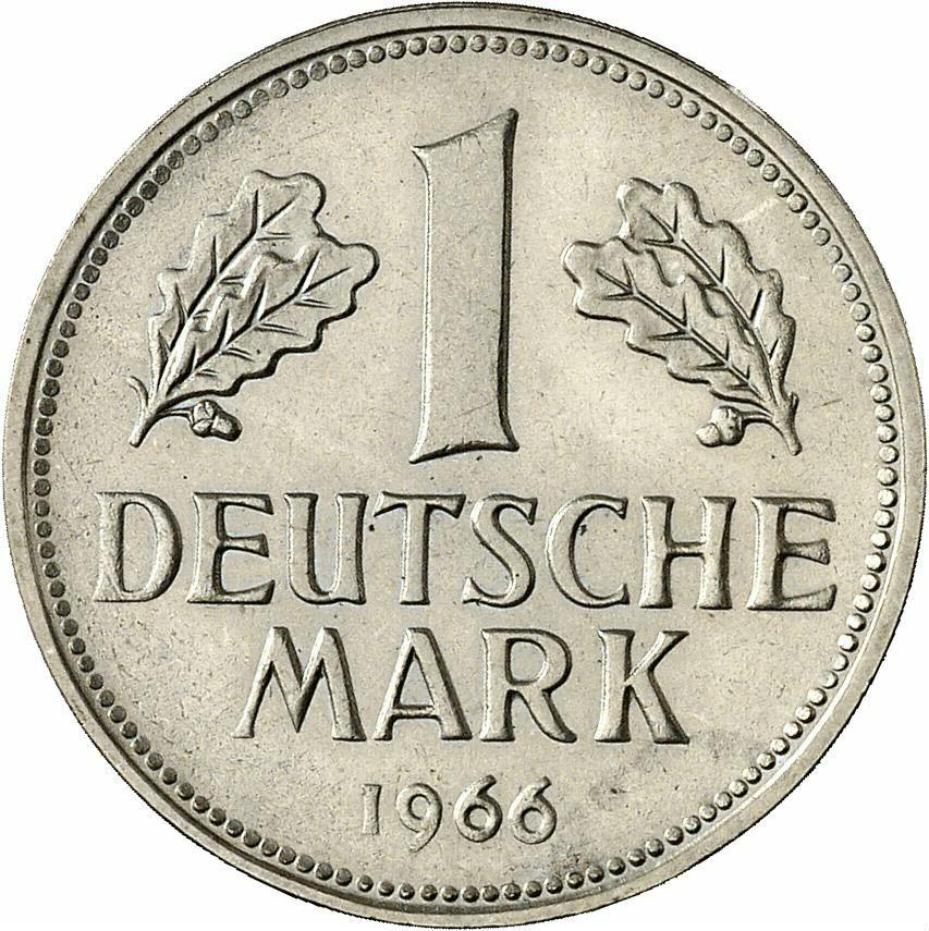 DE 1 Deutsche Mark 1966 J