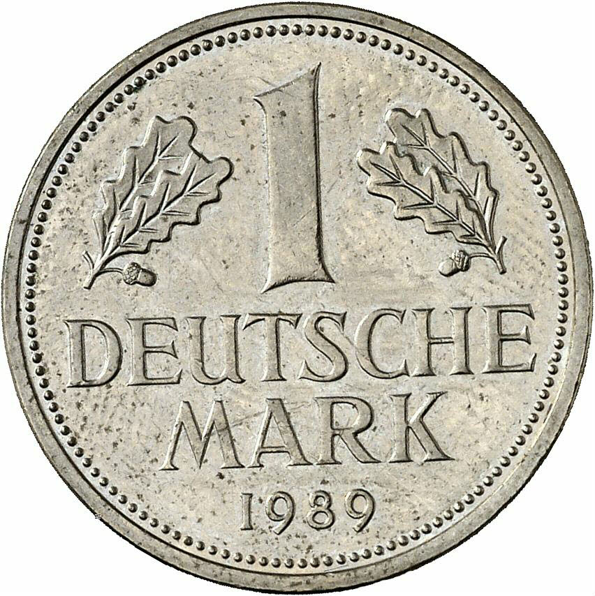 DE 1 Deutsche Mark 1989 D