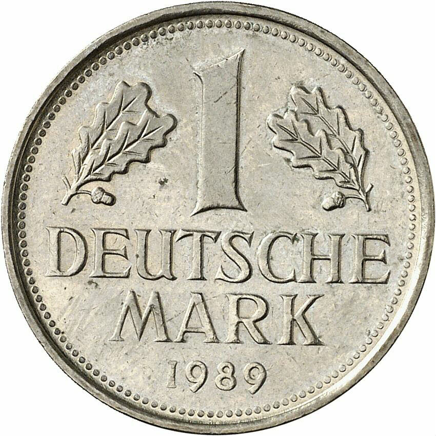 DE 1 Deutsche Mark 1989 F