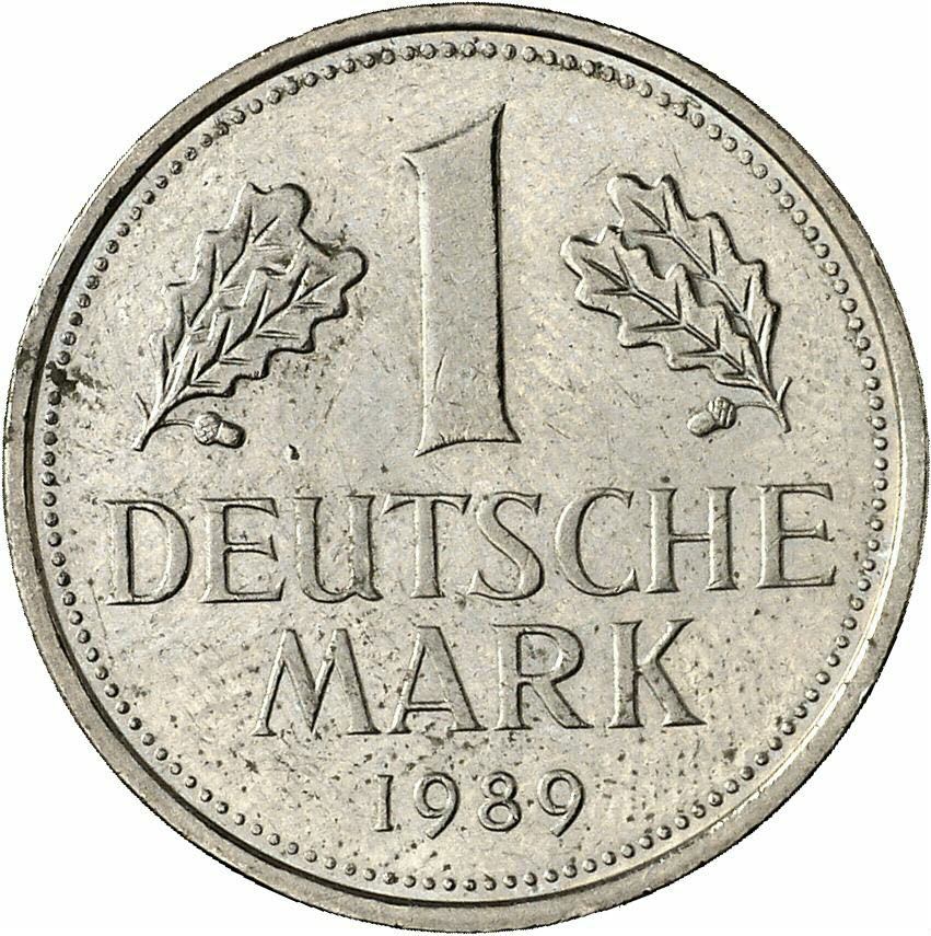DE 1 Deutsche Mark 1989 J