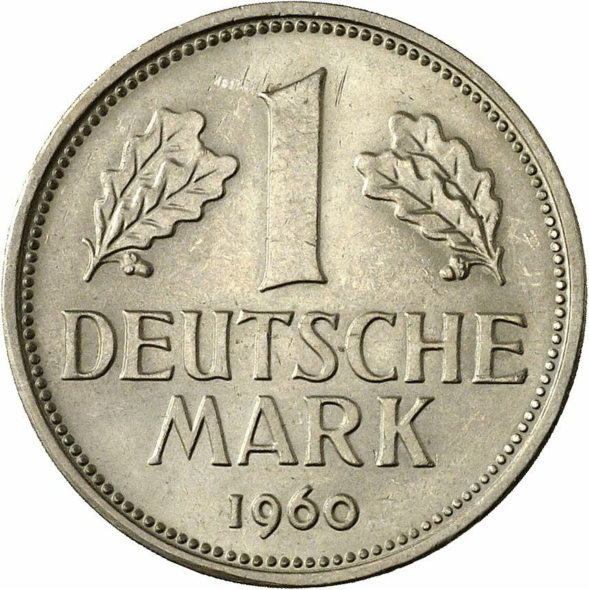 DE 1 Deutsche Mark 1960 F