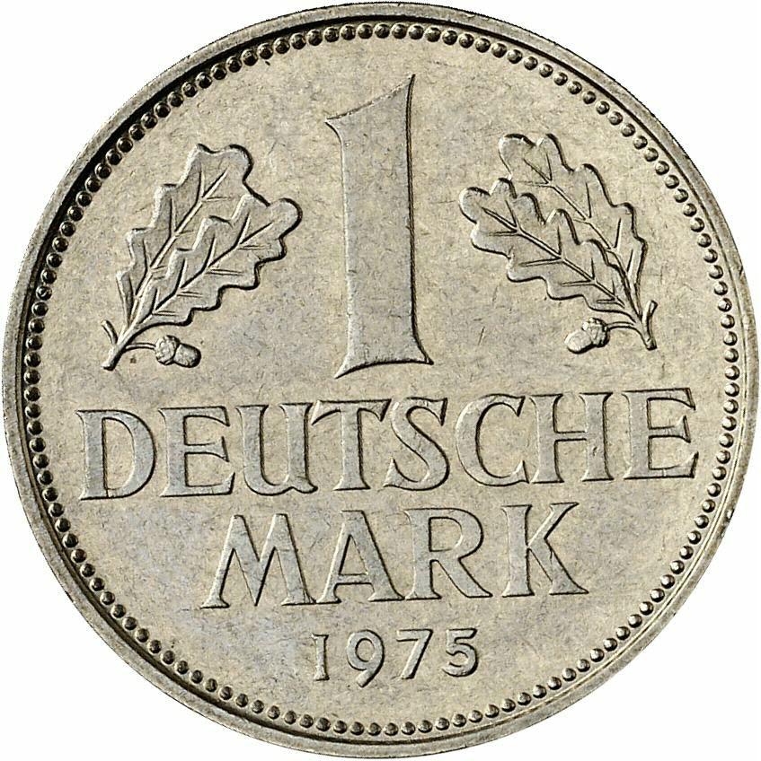 DE 1 Deutsche Mark 1975 D