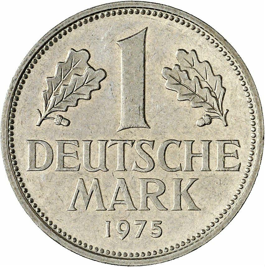 DE 1 Deutsche Mark 1975 J